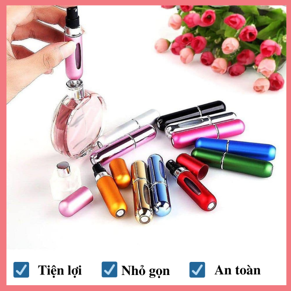 Lọ chiết nước hoa du lịch Huy Linh, dụng cụ chiết nước hoa chuyên dụng, thiết kế nhỏ gọn, tiện dụng, kiểu dáng tinh xảo, sang trọng - 5ml giá rẻ