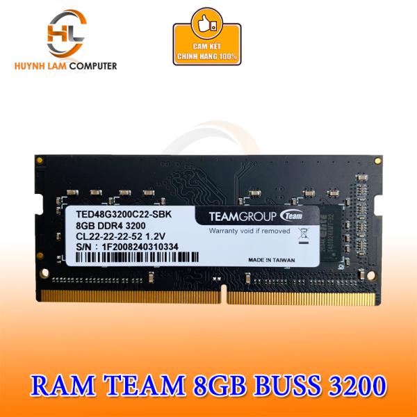 Bảng giá Ram Laptop 8GB DDR4 Buss 3200 Teamgroup Chính hãng Networkhub phân phối Phong Vũ