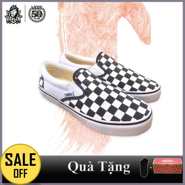 [FullBox+tặng Vớ] Giày VANS SLIP ON CHECKERBOARD nam nữ màu Caro hàng SupF giá rẻ