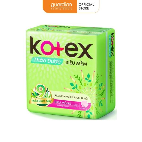 Băng vệ sinh Kotex thảo dược siêu mỏng cánh (8 miếng) cao cấp