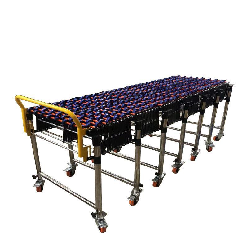 2019 New Gravity Flexible Skate wheels Conveyor plastic roller extenable conveyor non-power unload transport conveyor