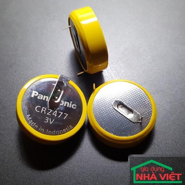 Pin nuôi nguồn Panasonic CR2477 lithium 3V hàn chân