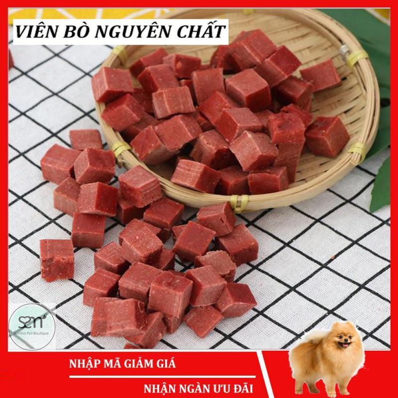 Bánh thưởng cho chó Sumiho (Viên thịt bò nguyên chất) (100gr/túi) Đồ ăn cho chó mèo thú cưng