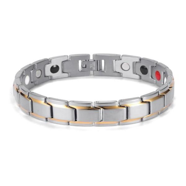 Vòng điều hòa huyết áp 4 trong 1 đeo cổ tay nam nữ - vòng màu bạc, cam kết hàng đúng mô tả, sản xuất theo công nghệ hiện đại, an toàn cho người sử dụng bán chạy