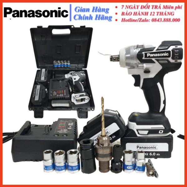 [CHÍNH HÃNG] Máy siết bulong Panasonic 118V, 2 PIN, KHÔNG CHỔI THAN, LỰC SIẾT 550Nm, KÈM PHỤ KIỆN NHƯ HÌNH