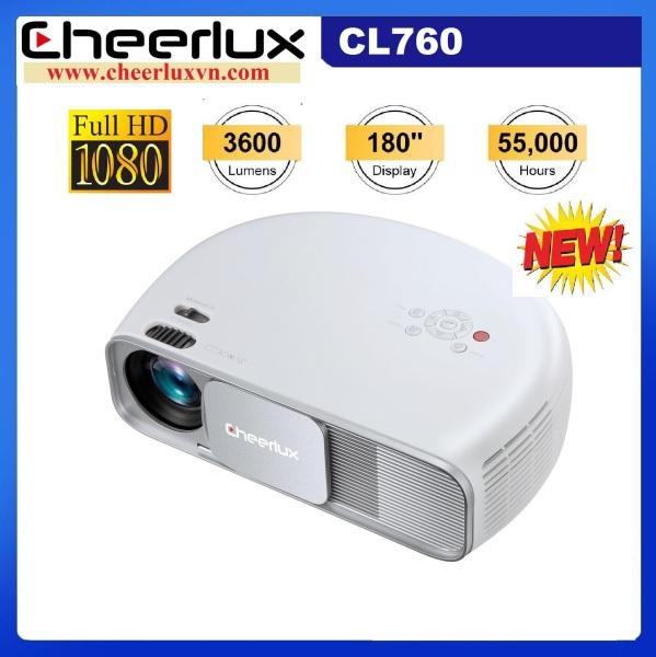 Bảng giá Máy chiếu phim Full HD projector Cheerlux Cl760-UP,nâng cấp 9/2020 xem nét 150 Inch, đèn Led 150W, 3600 Lumens sáng rõ, Zoom điện tử. Điện máy Pico