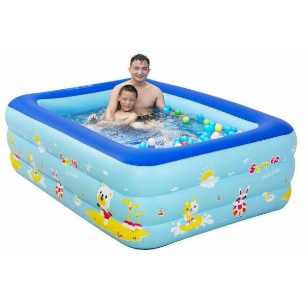 Bể bơi vuông 3 tầng 130x85x55cm