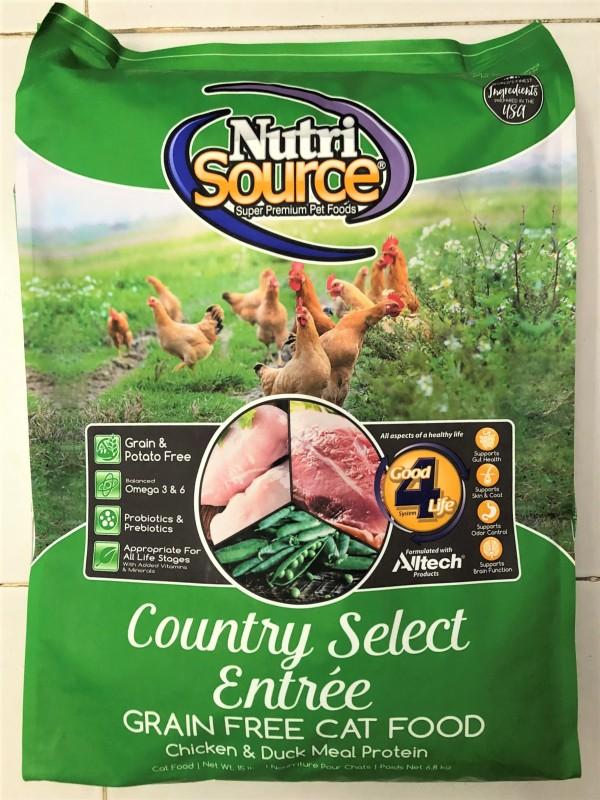 Hạt Khô Cho Mèo Nutri Source Grain Free 6.8kg