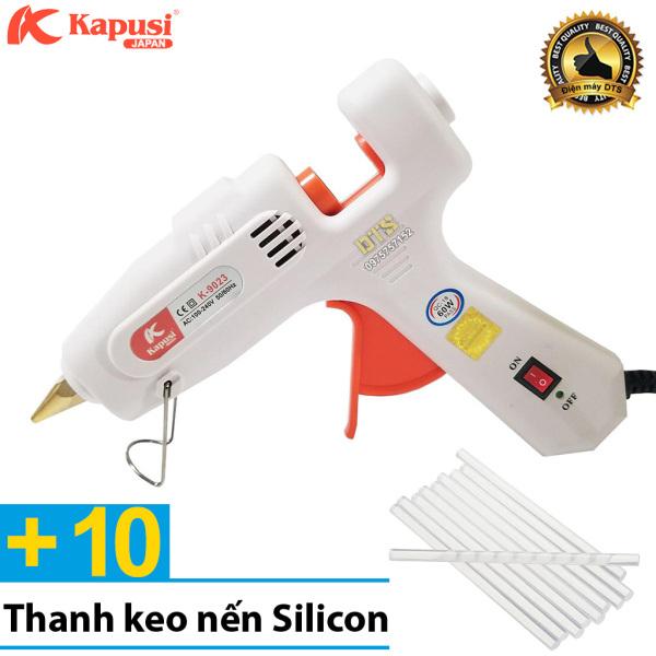 Máy bắn keo nến silicon cầm tay 60W Kapusi JAPAN + Kèm 10 thanh keo nến Silicon