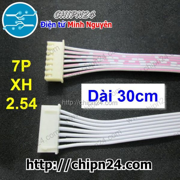 [2 SỢI] Dây bẹ 7p 30cm XH 2.54mm [Dây bus 7p 30cm]