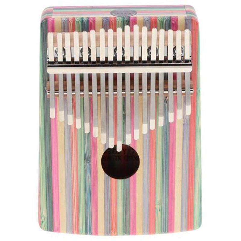 Thumb Piano,17 Keys Kalimba Thumb Piano Kit Portable Red Bamboo Finger Thumb Piano Musical Instrument Accessories