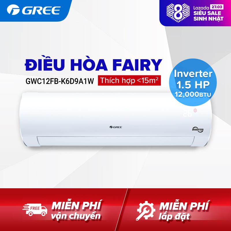 Bảng giá Điều hòa GREE- công nghệ Real Inverter - 1.5 HP (12,000 BTU) - FAIRY GWC12FB-K6D9A1W (Trắng) - Hàng phân phối chính hãng
