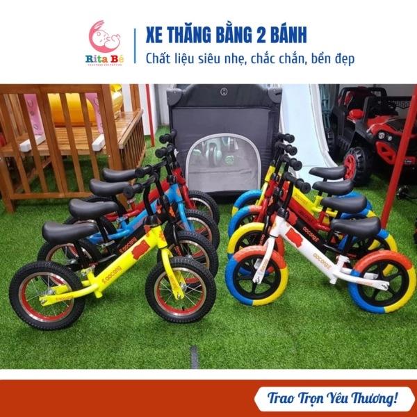 Mua Xe thăng bằng cho bé - bánh xe đen và bánh xe màu