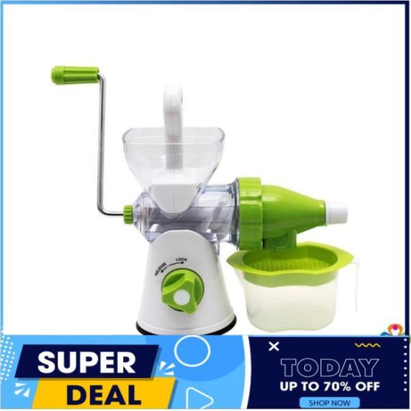 Máy xay ép đa năng manual juicer 2 trong 1 siêu tiện dụng, Máy ép thực phẩm bằng tay, máy ép hoa quả, máy ép sinh tố, máy ép trái cây (Xanh)