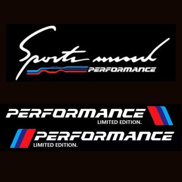 [HCM]Combo 2 tem dán cửa + 1 tem sport mind dán capo xe ô tô Performance (trắng)