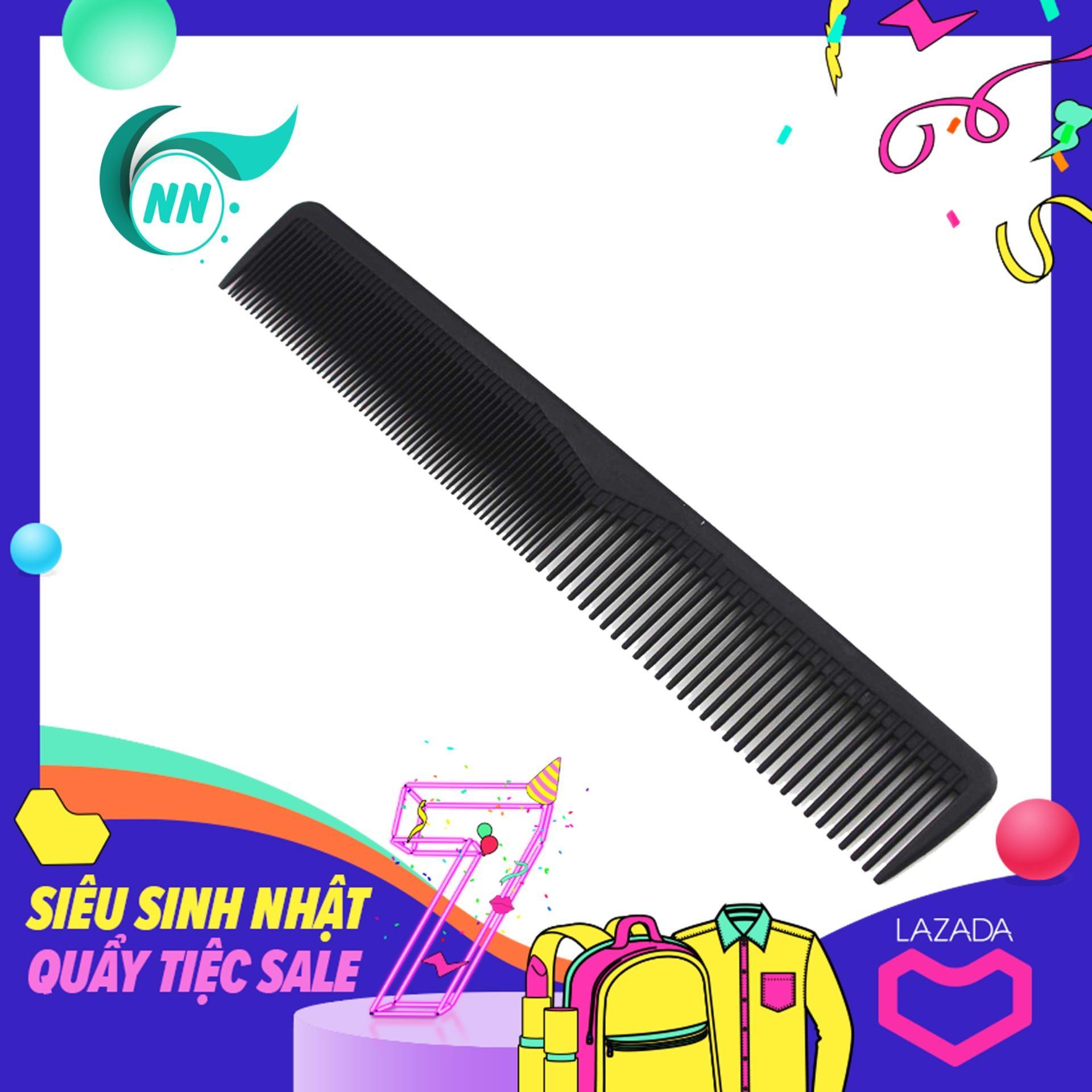 Lược Thẳng 2 đầu thưa 5 mm , dầy 1 mm , dài 17,4 cm x 2,5 cm Lược thường giá thành thấp ( đen ) phụ kiện cho tóc nhập khẩu