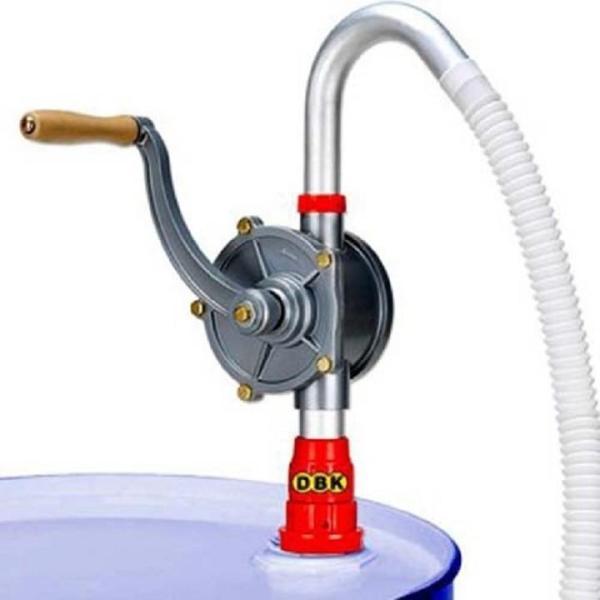 Bơm dầu quay tay hợp kim nhôm siêu nhẹ bền, dễ tháo lắp vận chuyển xăng dầu, chất lỏng từ thùng phuy vào bồn chứa