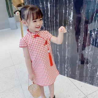 Ropalia Store Đầm Trẻ Em Bé Gái Váy Hoa Cho Bé Gái Mùa Hè Trang Phục Sườn Xám Truyền Thống Trung Quốc Trẻ Em Quần Áo Cho Bé Gái