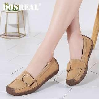 DOSREAL Giày Đế Bằng Nữ, Giày Lười Da Cỡ Lớn 35-42 Chất Lượng Cao Giày Đế Bằng Kiểu Hàn Quốc Giày Bệt Ba Lê Giày Nữ Màu Kẹo Ngọt Thoải Mái