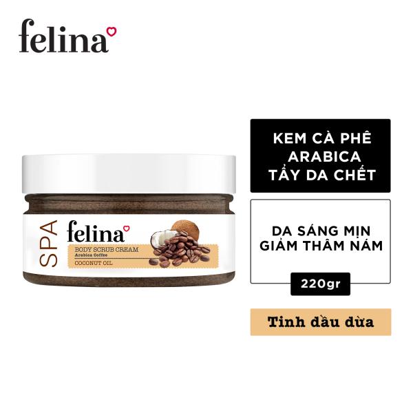 Tẩy tế bào chết Felina dạng kem 220g - Hạt cà phê và tinh dầu dừa giá rẻ