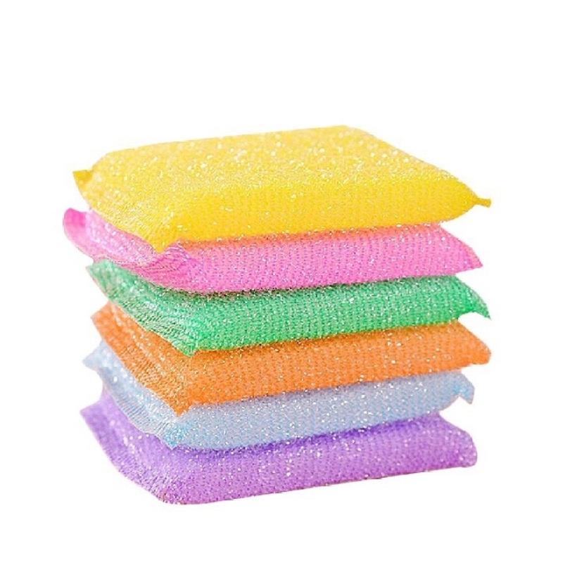 Cước rửa chén kim tuyến đủ màu ( 1 lốc 60 miếng )