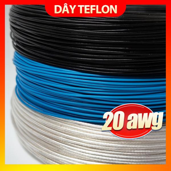 Dây điện mạ bạc vỏ teflon 22AWG - 0.5mm (Giá 1 mét)