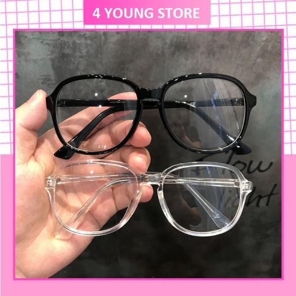 Giá bán Kính giả cận mắt kính không độ bảo vệ mắt chống tia UV, kính mát nam nữ Hottrend 2021, kính cận thời trang Unisex phong cách Hàn Quốc 026