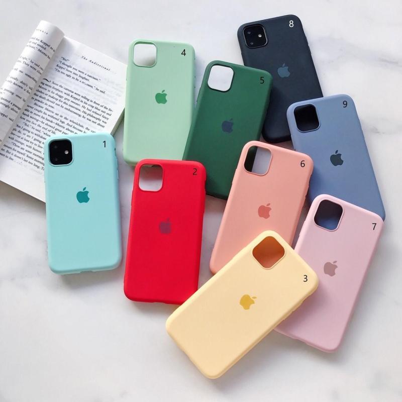 Giá Ốp Chống Bẩn Silicone full viền Iphone 6,6s,7,8,6 Plus, 6s Plus, 7 Plus, 8 Plus, X, Xs, Xs Max, 11, 11 Pro, 11 Pro Max.