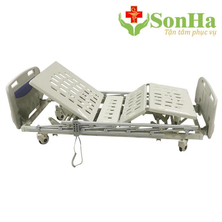 Giường bệnh nhân 3 chức năng chạy điện Lucass nhập khẩu