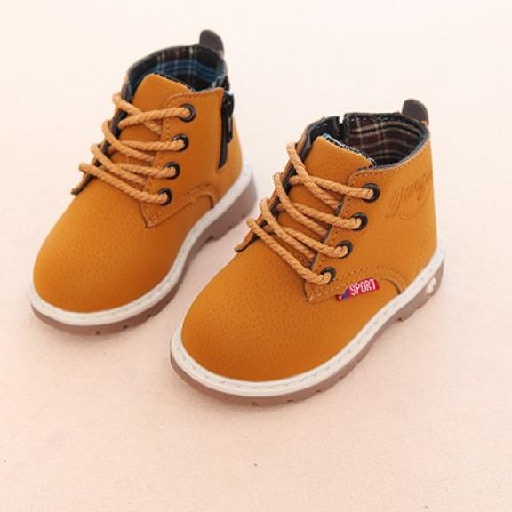 Giày cao cổ bé trai và bé gái- giày boot cho bé phong cách Hàn quốc cho bé từ 1-8 tuổi giá rẻ