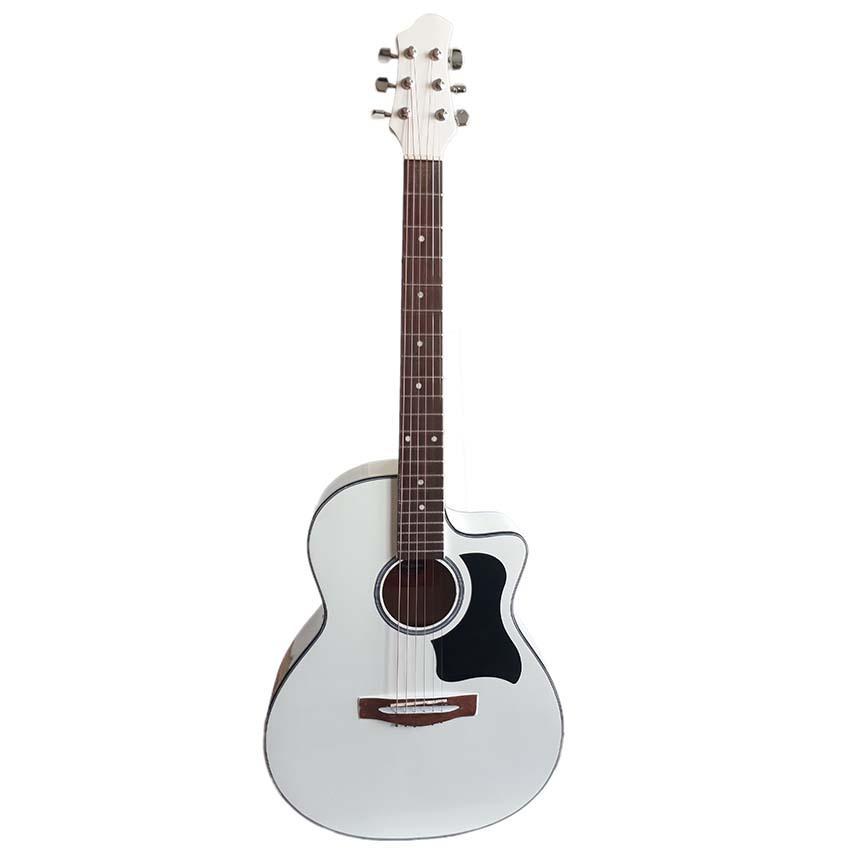 Đàn guitar Acoustic DVE85 trắng - Duy Guitar shop đàn guitar giá rẻ dành cho người mới tập