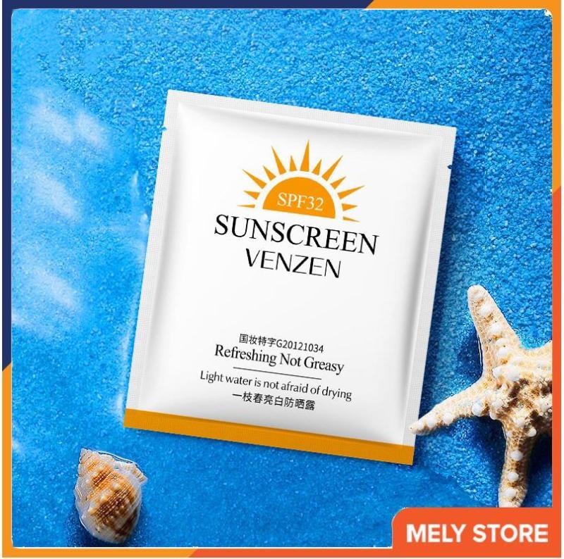 Combo 10 gói kem chống nắng cho da mặt, toàn thân dạng gói dùng thử, kem chống nắng làm sáng da, loại nhỏ, dưỡng ẩm, dưỡng trắng, giá rẻ, kem chống nắng hàng ngày Melystore SPT110059