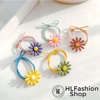 Dây cột buộc tóc co dãn bông cúc thời trang Ulzzang Hàn Quốc cho nữ, kẹp tóc nữ HLFashion thumbnail