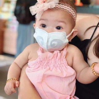 [Chính hãng] Khẩu trang 3Q kháng khuẩn - Khẩu trang gấu trúc cho bé từ 2 - 12 tuổi (size M) (set 10 cái bịch) thumbnail