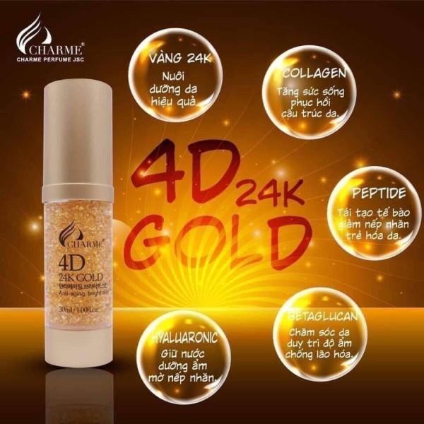 Serum 4D Vàng 24K Chame - Dưỡng trắng, Ngăn ngừa lão hóa. Gương mặt sáng hồng, rạng rỡ (30Ml)