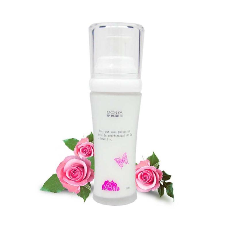 Tinh Chất Dưỡng Phục Hồi Độ Săn Chắc Cho Da Với Hoa Hồng Bulgaria Monsa Rose Whitening Essence Lotion 60ml