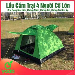 Lều Cắm Trại, Lều Cắm Trại 4 Người Cỡ Lớn- Cửa Dạng Mái Hiên, Chống Nước, Chống Gió, Chống Tia Bức Xạ- Lều Cắm Trại Tự Bung 4m2- BH02 thumbnail
