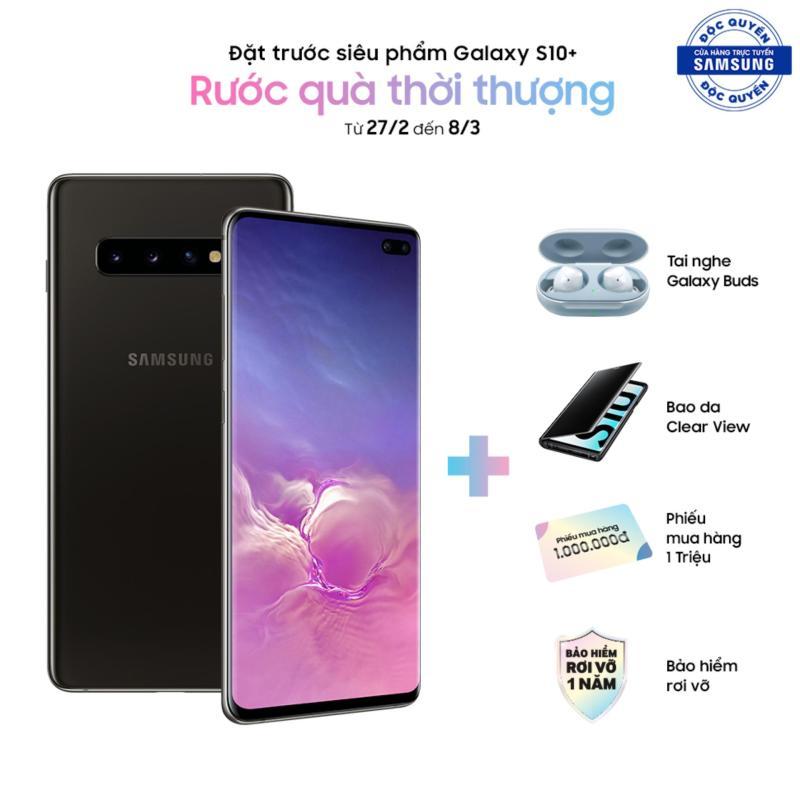 Samsung Galaxy S10+ 8GB/512GB Ceramic - (Quà tặng preorder : Tai nghe Earbuds, bao da Clearview, PMH 2 triệu) - Hãng phân phối chính thức.