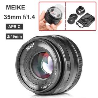 CÓ SẴN) Ống kính Meike 35mm F1.4 - Dùng Sony E, Fujifilm, Canon EOS-M và Panasonic Olympus M43 thumbnail