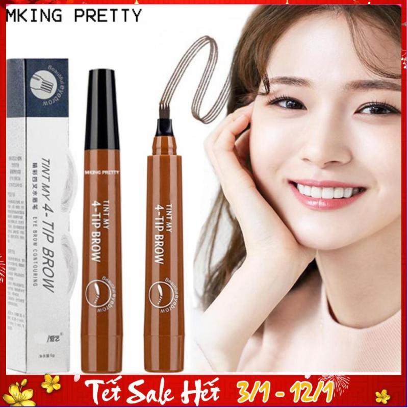 Bút chì kẻ lông mày phẩy sợi 4D MKING PRETTY chống nước lâu trôi dụng cụ trang điểm makeup chuyên nghiệp TK-EP042