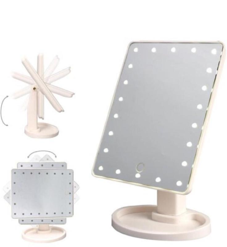 Gương để bàn có đèn led 22 bóng