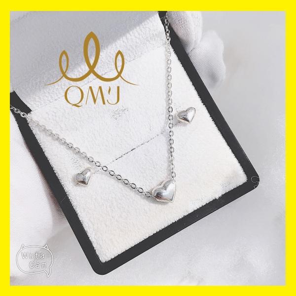 Bộ bạc đẹp QMJ Tim trơn nhỏ xinh 925 cao cấp siêu xinh xắn cho nàng thích nhẹ nhàng [CHUẨN BẠC] QB012