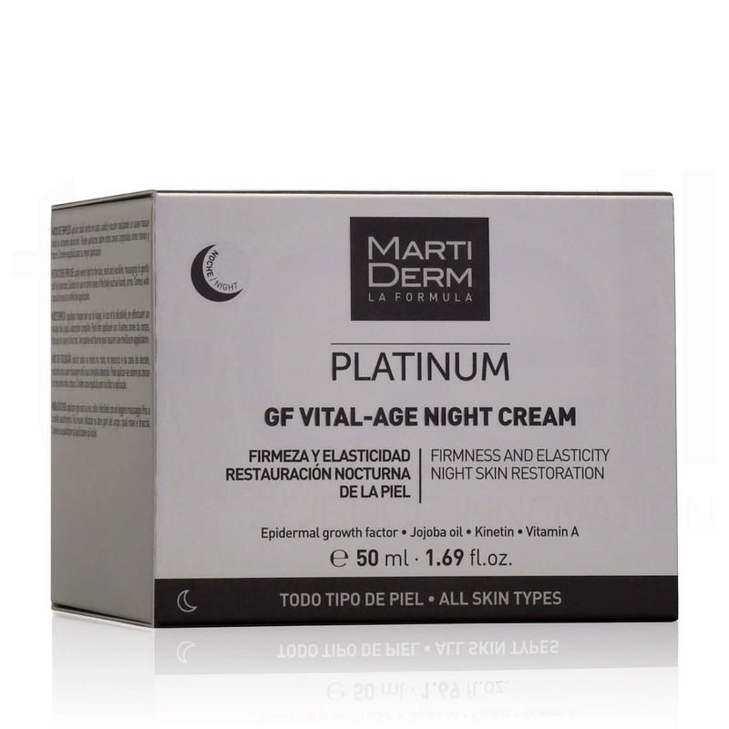 Kem Dưỡng Phức Hợp Retinyl Palmitate Phục Hồi Hỗ Trợ Trị Mụn & Trẻ Hóa - MartiDerm Platinum GF Vital Age Night Cream 50ml