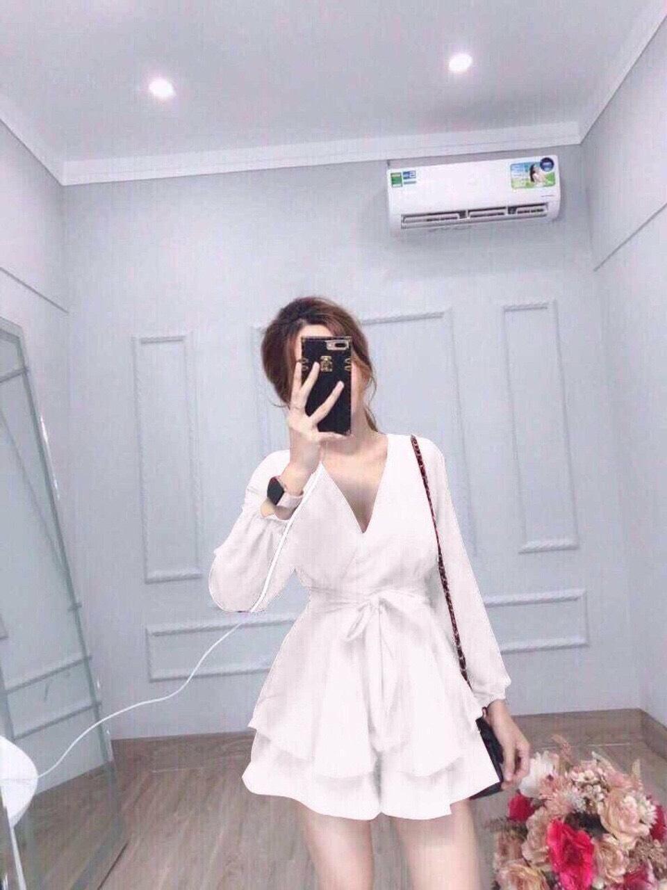 Mã Giảm Giá tại Lazada cho Đầm Xòe Cột Nơ Eo Dài Tay Thời Trang Nữ T62, Có Big Size (Kèm ảnh Thật+ Video)
