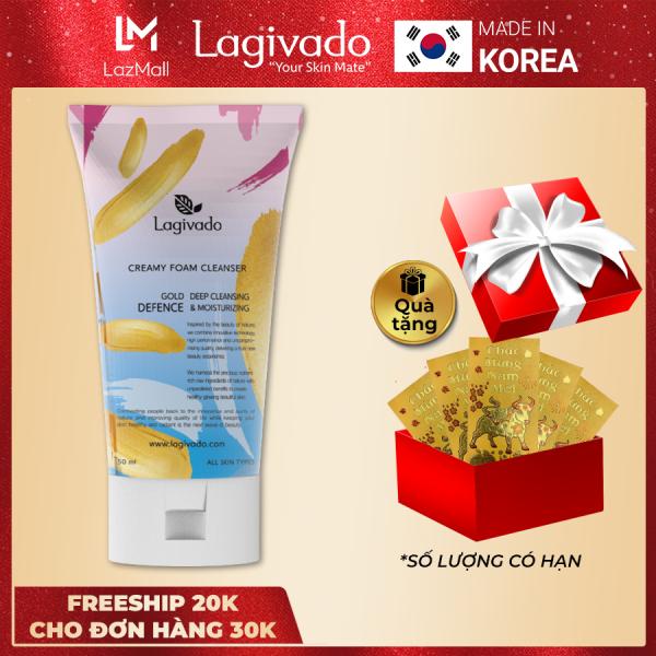 Sữa rửa mặt trắng da Hàn Quốc Lagivado không làm khô, căng da dành cho cả da dầu mụn, da nhạy cảm Creamy Foam Cleanser  50ml giá rẻ