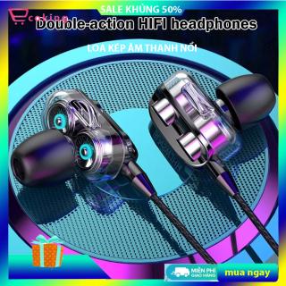 tai nghe có giây giá rẻ ecoking LOA KÉP ÂM THANH NỔI chính hãng,Cho phép bạn nghe và trả lời cuộc gọi, thưởng thức MP3 và âm nhạc, micrô kín đáo trên dây đảm bảo giọng nói của bạn được nghe to và rõ thumbnail