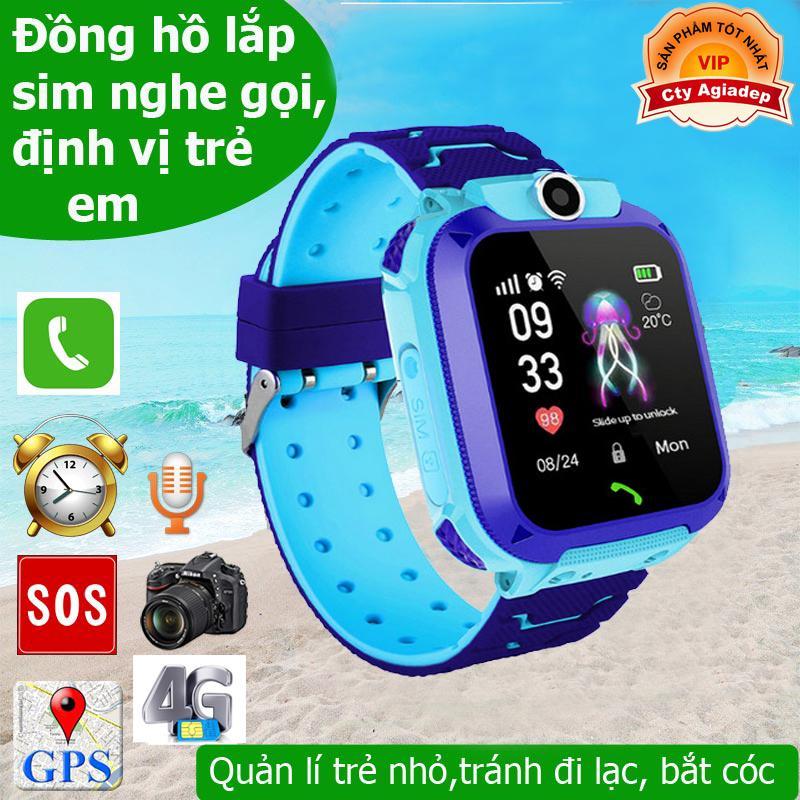 Đồng hồ thông minh theo dõi trẻ em (Loại xịn) có GPS, SOS, Camera, Cảnh báo nghe gọi 2 Chiều chống nước