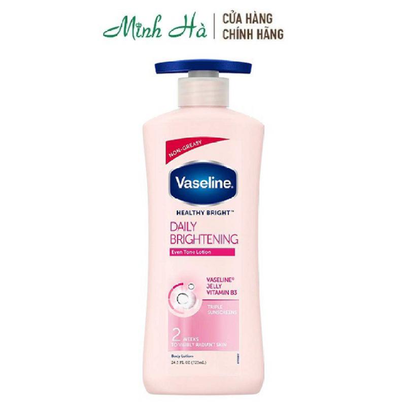 Sữa dưỡng thể Vaseline Healthy Bright Daily Brightening 725ml không bóng nhờn , sáng da sau 2 tuần cao cấp