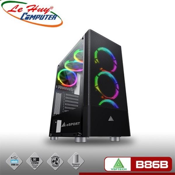 Bảng giá Vỏ Máy Tính Vsp Gaming B86B Mặt Lưới Kính Cường Lực Phong Vũ