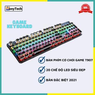 Bàn phím cơ chuyên game LED RGB 7 màu cực đẹp Manytech T907 Gamer nhiều chế độ nháy hấp dẫn, trục cơ gõ cực đã siêu bền dùng cho game thủ chuyên nghiệp hỗ trợ mọi hệ điều hành trên máy tính, laptop, pc thumbnail
